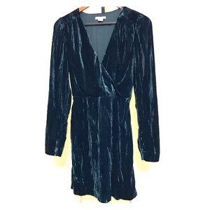 H&M Velvet Mini Dress Long Sleeves